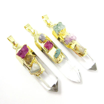 Wholesale Druzy Gemstone Natural Rainbow Agate Crystal Pendulum Pendant Wholesale Pendants for Jewelry Making