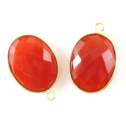 Wholesale Gold plated Sterling Silver Oval Bezel Carnelian Gemstone Pendant, Wholesale Gemstone Pendants for Jewelry Making