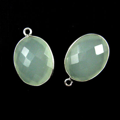 Wholesale Sterling Silver Oval Bezel Aqua Chalcedony Gemstone Pendant, Wholesale Gemstone Pendants for Jewelry Making