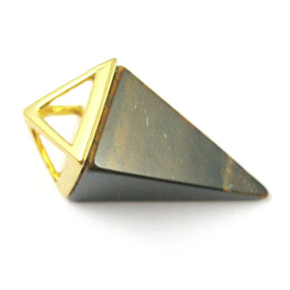 Wholesale Druzy Gemstone Tiger Eye Triangle Spike Pendant Wholesale Pendants for Jewelry Making