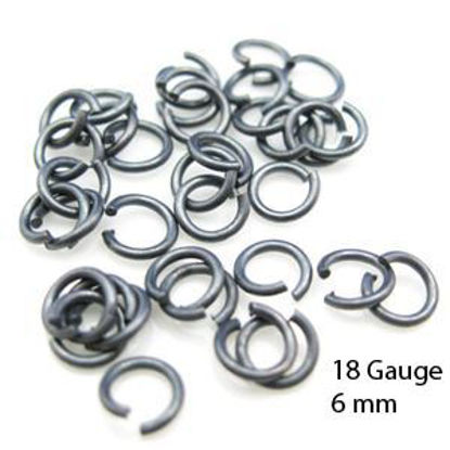 Wholesale Oxidized Sterling Silver 18 Gauge 6mm Open Jumprings for Jewelry Making, Wholesale Findings
