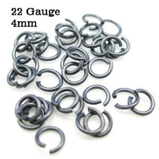 Wholesale Oxidized Sterling Silver 22 Gauge 4mm Open Jumprings for Jewelry Making, Wholesale Findings