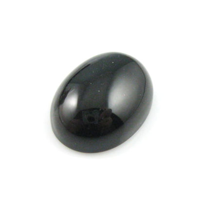 Wholesale Cabochon Black Agate Oval, 12x16mm, Grade A