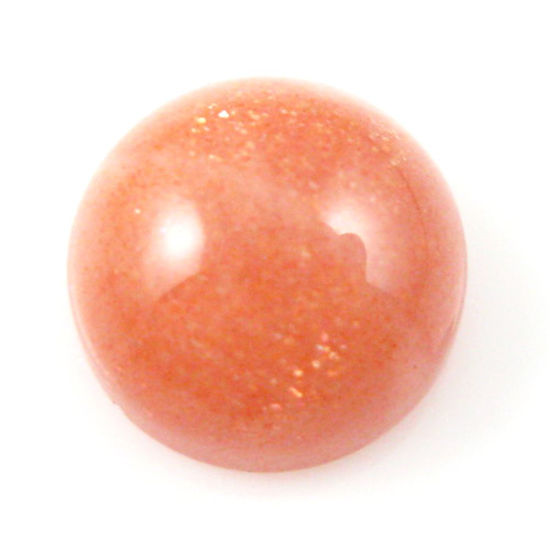 Wholesale Cabochon Goldsand Sunstone Round, 10mm, Grade A