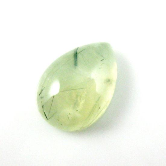 Wholesale Cabochon Prehnite Pear, 13x18mm, Grade A
