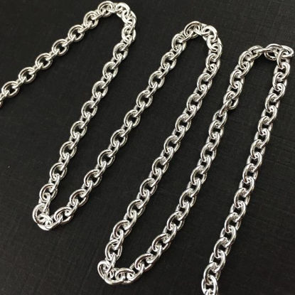 Wholesale Chain, 925 Sterling Silver 5x4mm Heavy Cable Oval Chain, bulk chain by the foot