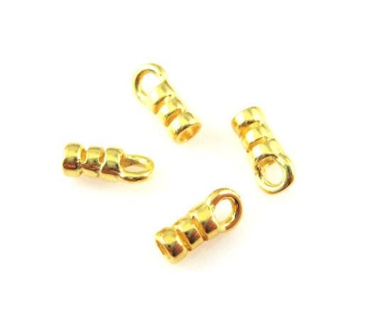 Wholesale Gold plated Sterling Silver Crimped Tube Ends ,Crimp and Endings for Jewelry Making, Wholesale Findings