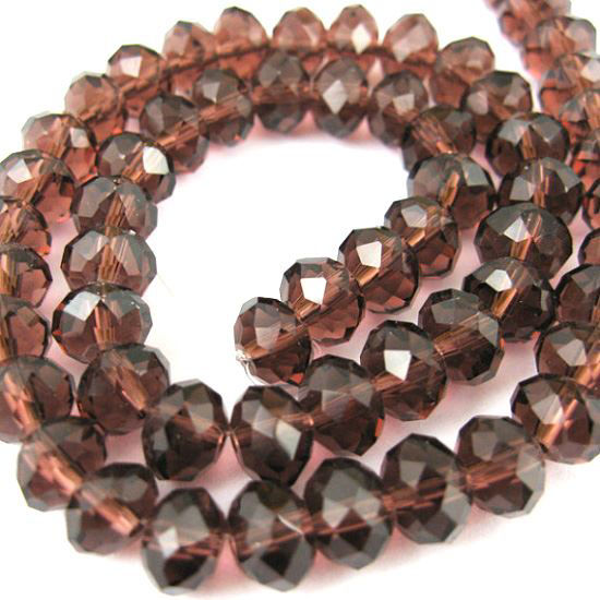 Wholesale Crystal Glass beads, 8X6mm Faceted Rondelle,Dark Red Violet