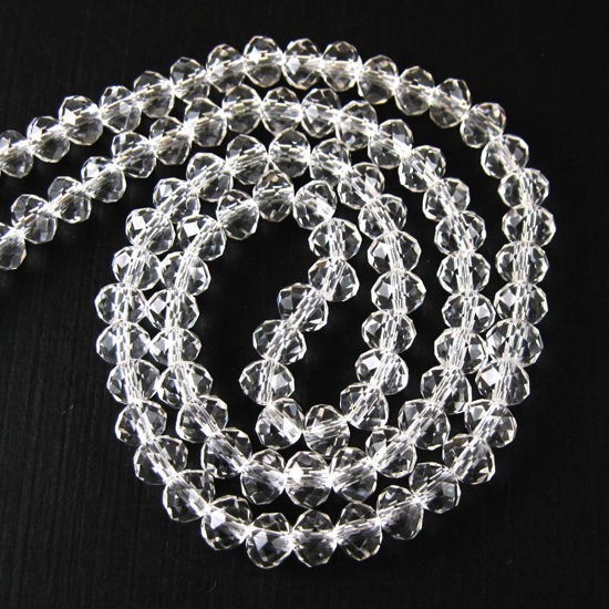 Wholesale  Crystal Glass beads, 6X4mm Faceted Rondelle,Clear color