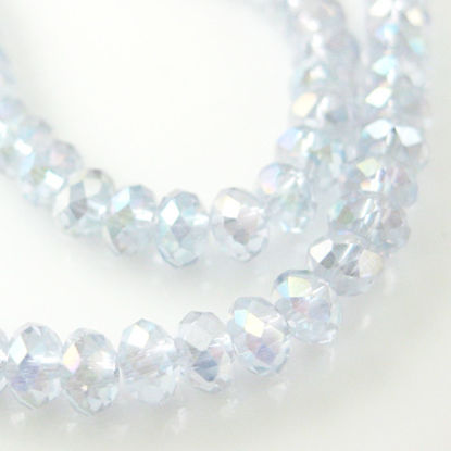Wholesale Crystal Glass beads,4X3mm Faceted Rondelle,Light Purple ,AB