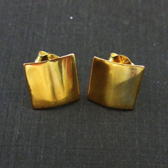 Wholesale Gold plated  Sterling Silver Smooth Square Earwire for Jewelry Making, Wholesale Earwire and Findings