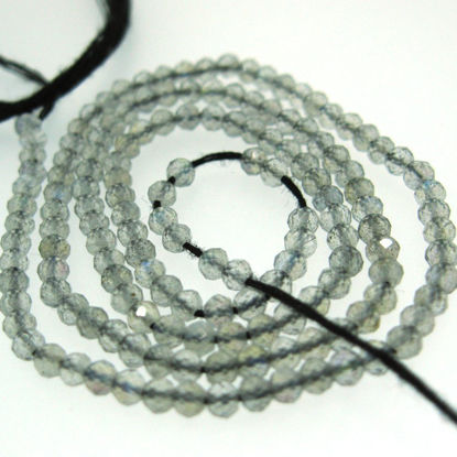 Wholesale Labradorite - Semi Precious Gemstones,Gemstone Beads ,Faceted Round Beads-2.5 mm- 13 inches