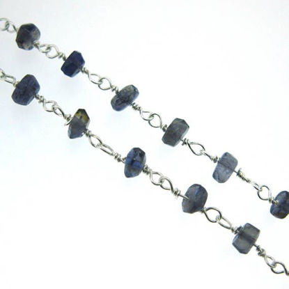 Wholesale Sterling Silver Iolite Rosary Chain By the Foot