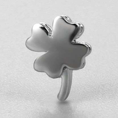 Wholesale 925 Sterling Silver Tiny 4 Leaf Clover Charm, Shamrock Charm