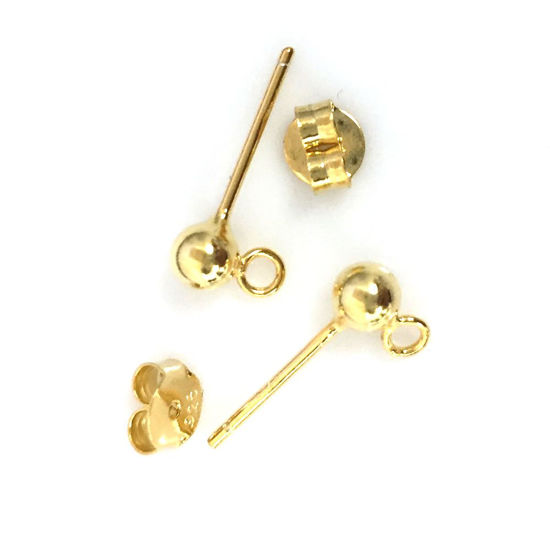 Wholesale Gold plated Sterling Silver Butterfly Earring Post Backs Earnuts for Jewelry Making, Wholesale Earwire and Findings