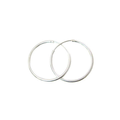 Wholesale Sterling Silver 25mm Earring Hoops (Sold per pair)