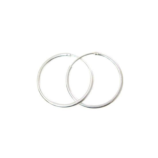 Wholesale Sterling Silver 25mm Earring Hoops (Sold per pair)
