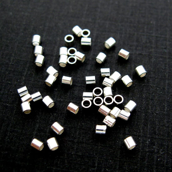 Wholesale Sterling Silver Tiny Crimp Beads ,Crimp and Endings for Jewelry Making, Wholesale Findings