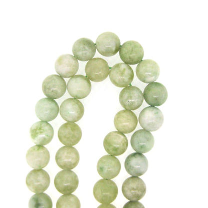 Wholesale New Jade Bead - 8mm Round Smooth (Sold Per Strand)
