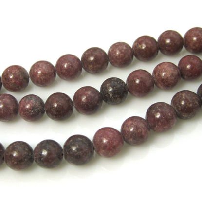 Wholesale Rhodonite - Smooth Round Beads - 8mm (sold per strand)