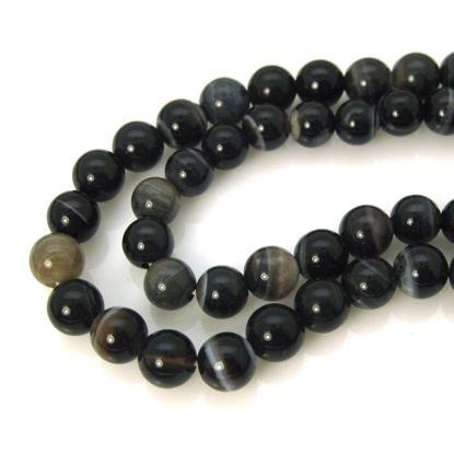 Wholesale Brown Tibet Agate Beads - Smooth Round 6mm (Sold Per Strand)