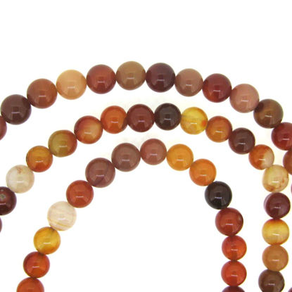 Wholesale Carnelian - Smooth Round Beads - 8mm (sold per strand)