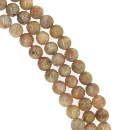 Wholesale Sunstone - Smooth Round Beads - 6mm (sold per strand)