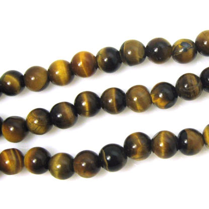 Wholesale Tiger's Eye Beads - 6mm Smooth Round (Sold Per Strand)