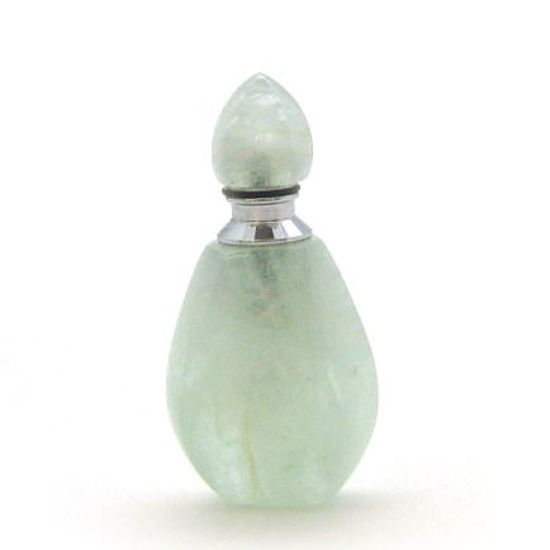 Wholesale Aquamarine Luxury essential oil bottle- Fire Flame Shape