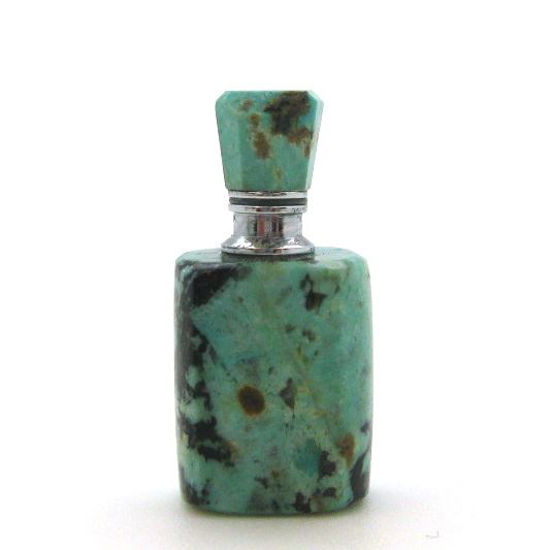 Wholesale African Turquoise Luxury essential oil bottle- Rectangle Shape