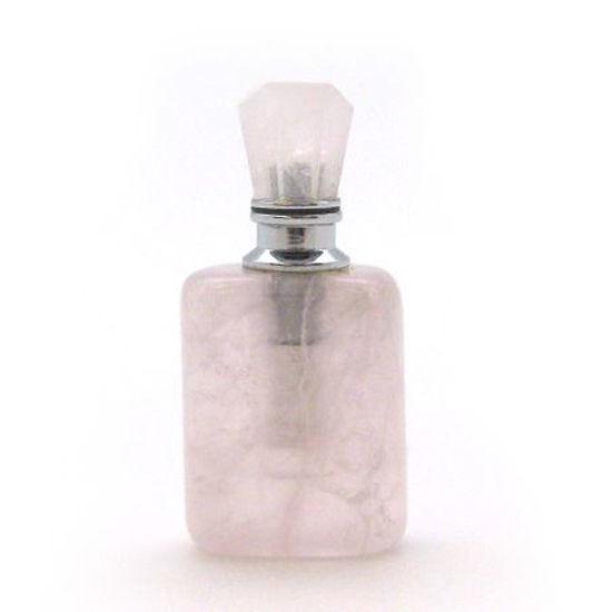 Wholesale Rose Quartz Luxury essential oil bottle- Rectangle Shape