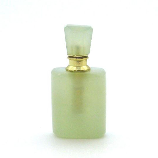 Wholesale New Jade Gold Plated Luxury essential oil bottle- Rectangle Shape