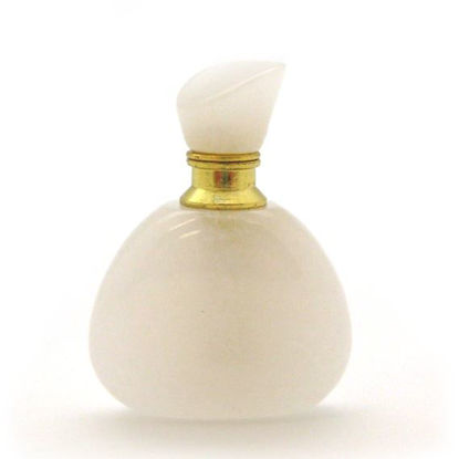 Wholesale White Jade Gold Plated Luxury essential oil bottle - Triangle Shape