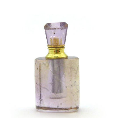 Wholesale Amethyst Gold Plated Luxury essential oil bottle- Rectangle Shape