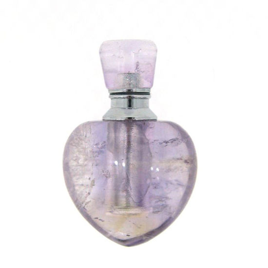 Wholesale Amethyst Luxury essential oil bottle- Heart Shape