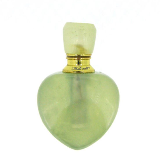 Wholesale New Jade Gold Plated Luxury essential oil bottle- Heart Shape