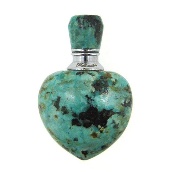 Wholesale African Turquoise Luxury essential oil bottle- Heart Shape