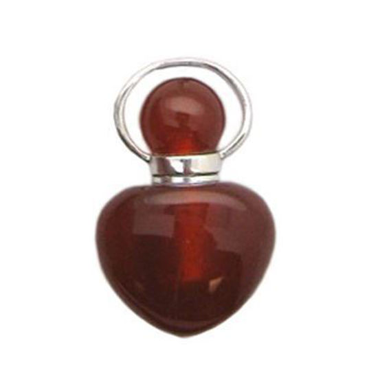 Wholesale Carnelian essential oil bottle, Mini 2- Heart Shape