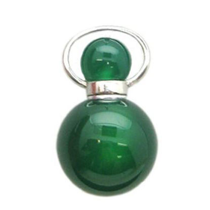 Wholesale Green Agate Essential oil bottle, Mini 2- Beaded Shape
