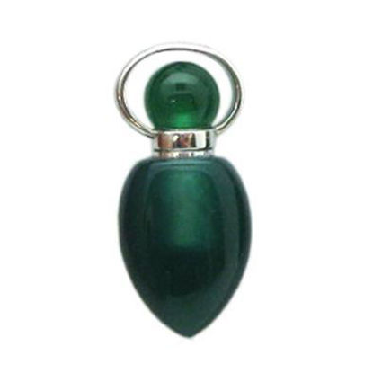 Wholesale Green Agate essential oil bottle, Mini 2- Arrowhead Shape