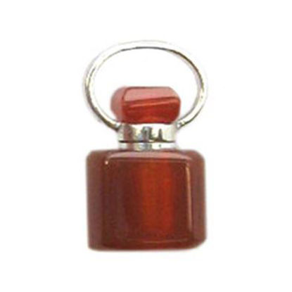Wholesale Carnelian Essential oil bottle, Mini 2- Square Shape