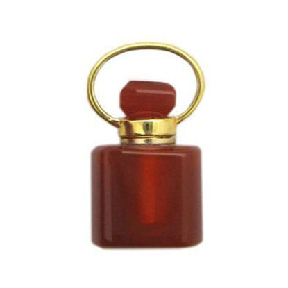 Wholesale Carnelian Gold Plated Essential oil bottle, Mini 2- Square Shape