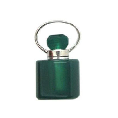 Wholesale Green Agate Essential oil bottle, Mini 2- Square Shape