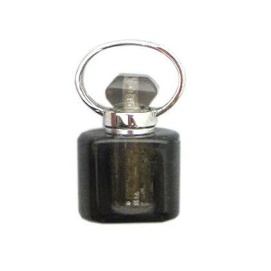 Wholesale Smoky Quartz Essential oil bottle, Mini 2- Square Shape
