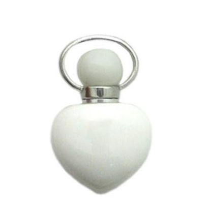 Wholesale Tridacninae (Giant Clam tridacna) essential oil bottle, Mini 2- Heart Shape