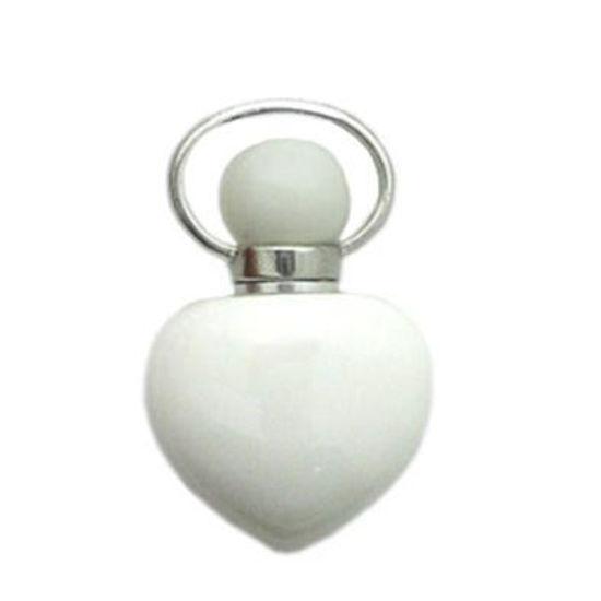 Wholesale Tridacninae (Giant Clam tridacna) essential oil bottle, Mini 2- Heart Shape