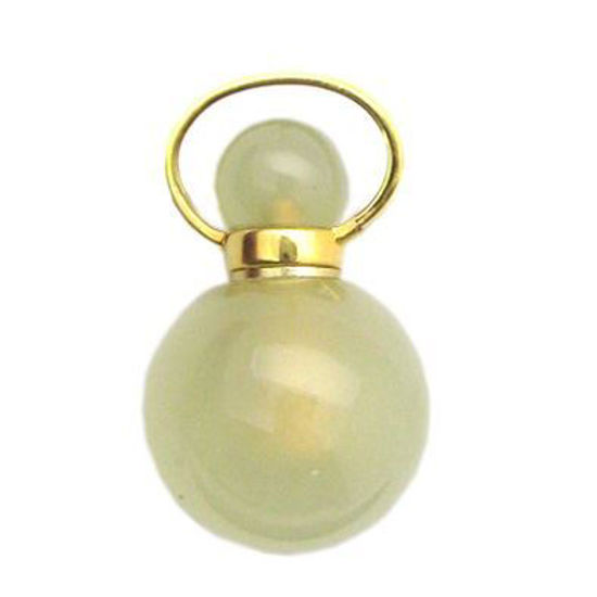Wholesale New Jade Gold Plated Essential oil bottle, Mini 2- Beaded Shape