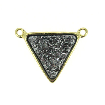 Wholesale Gold Plated Silver Agate Titanium Triangle Druzy Connector