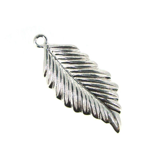 Wholesale Sterling Silver Feather Charm, Charms and Pendants for Jewelry Making, Wholesale Findings
