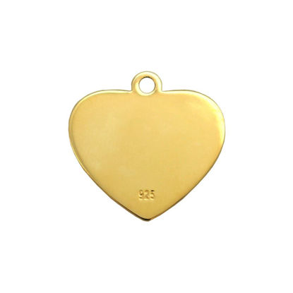 Wholesale Gold Over Sterling Silver Heart Charm Stamping Blank -12mm